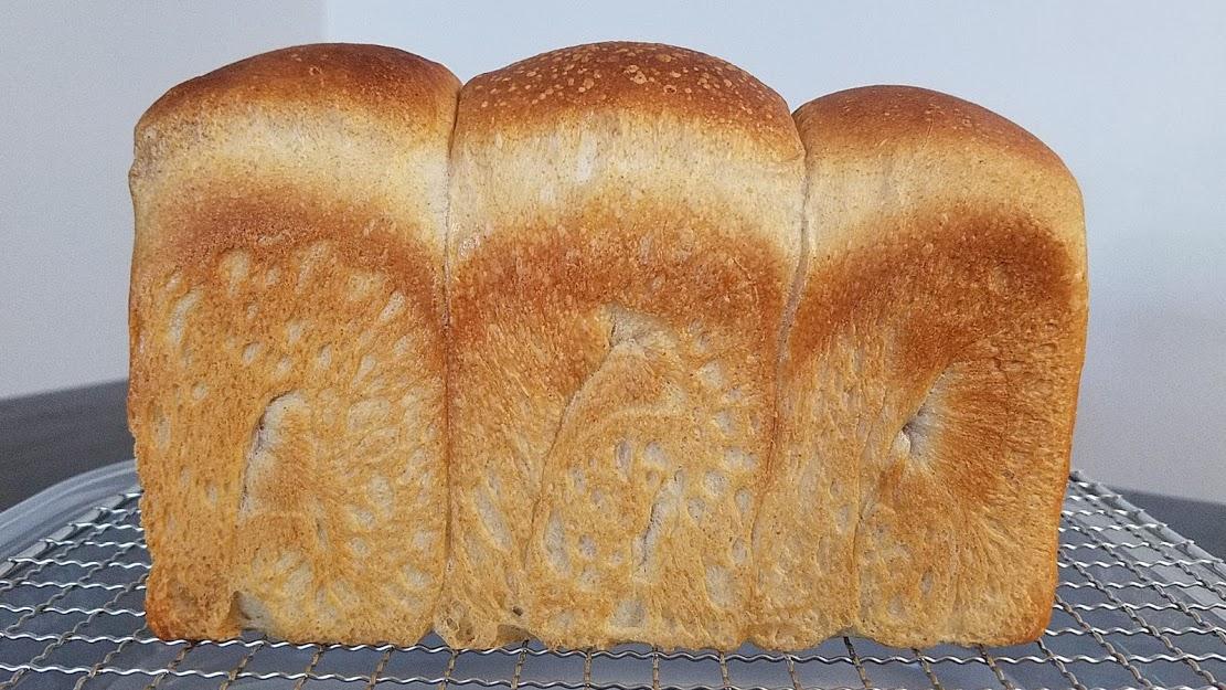 マスカット酵母で全粒粉入り食パン
